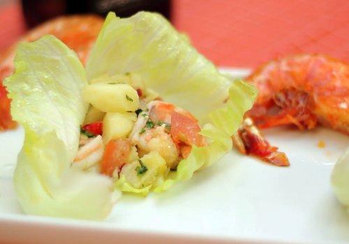 Salada de Camarão Grelhado com Vinagrete de Xerez