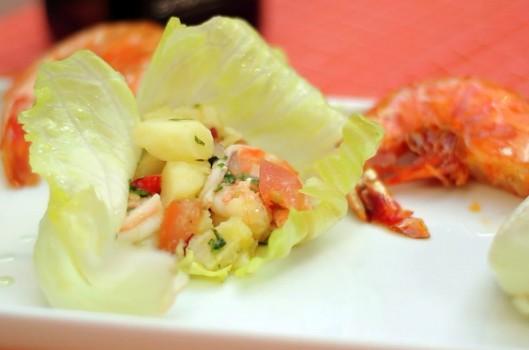 Salada de Camarão Grelhado com Vinagrete de Xerez | CyberCook