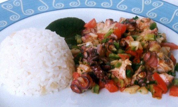 Salada de Polvo à Vinagrete de Limão