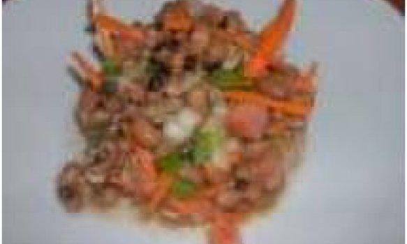 Salada de Feijão Fradinho com Bacalhau e Cenoura