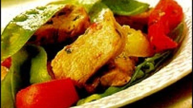 Lombo de Porco com Ervilha e Tomate