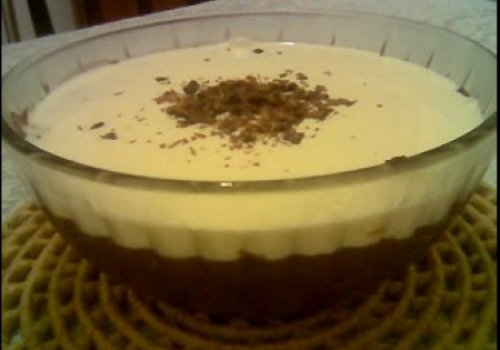 Pavê de Uva com Chocolate Branco