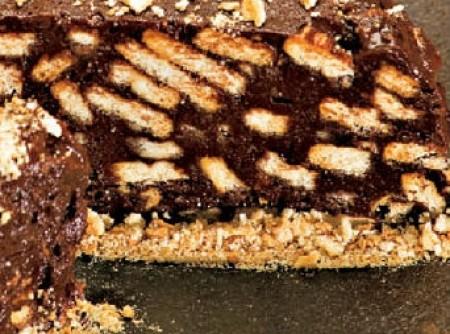 Terrine de Chocolate com Biscoito Maisena