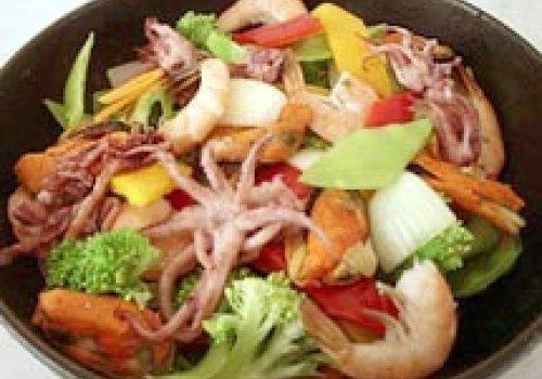 Chapa Chinesa de Frutos do Mar