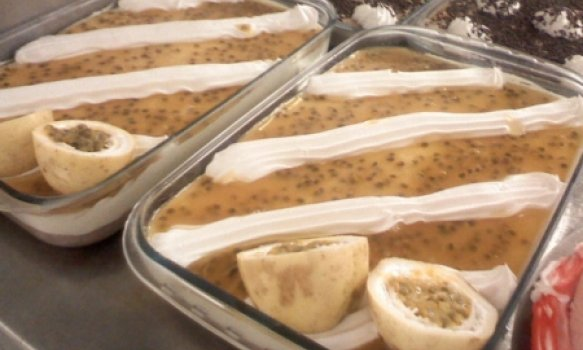 Delicioso mousse de maracuja