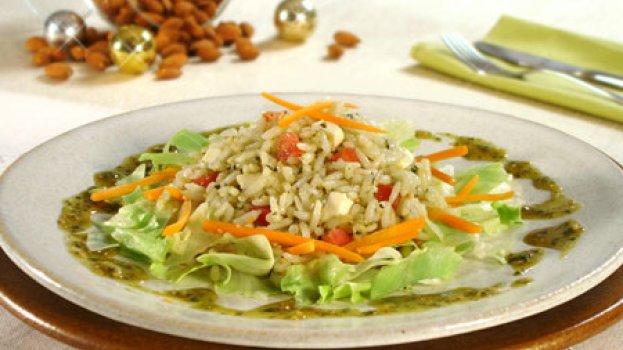 Salada de Arroz com Pesto
