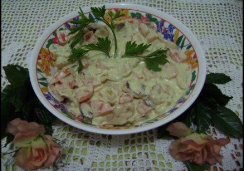 Strogonoff de Linguiça e Cenoura
