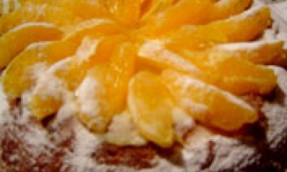 Pão de ló de laranja recheado