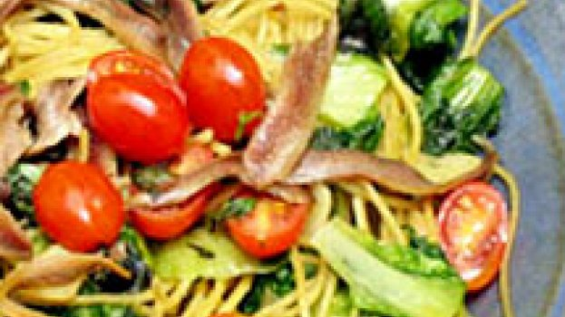 Espaguete com Escarola e Aliche