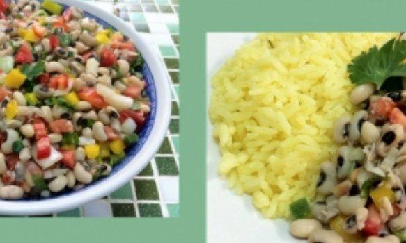 Salada de Feijão Fradinho com Pimentão e Tomate