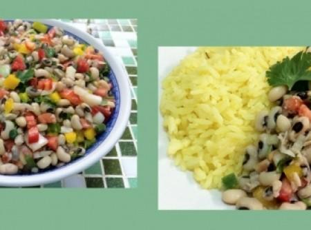 Salada de Feijão Fradinho com Pimentão e Tomate   Astir Abi Rached Carrascosa