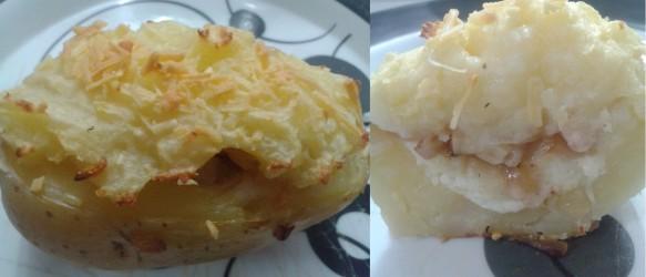 Batata Recheada com Parmesão e Bacon