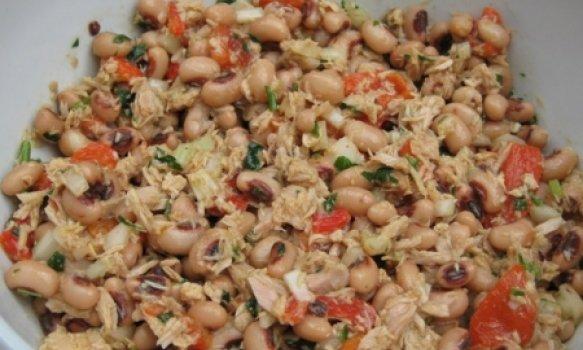 Salada de Feijão e Atum