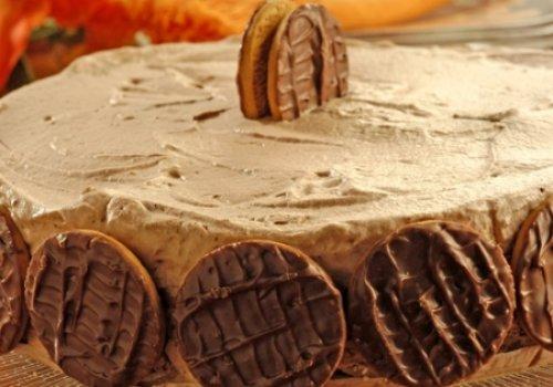 Torta-pavê de chocolate