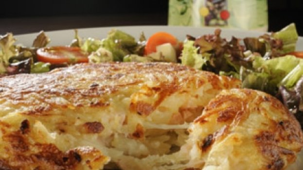 Batata Rostie com Gorgonzola e Peito de Peru