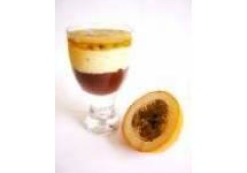 Mousse de Maracujá Com Mousse de Chocolate