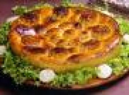 Torta de quinua real com brócolis