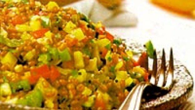 Salada de Trigo com Pimentão