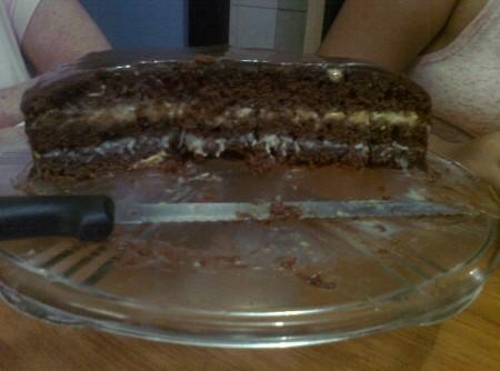 Bolo de Chocolate Recheado da Tia Drik