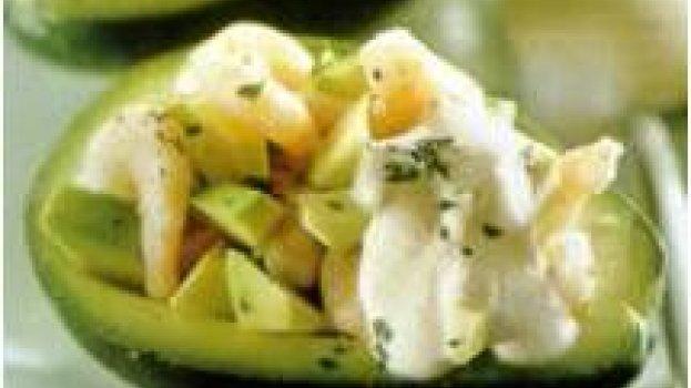 Coquetel de camarão e abacate