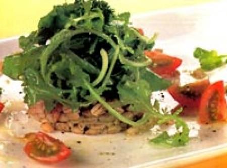 salada de cevadinha com rúcula e tomate cereja | Andréa Ferreira