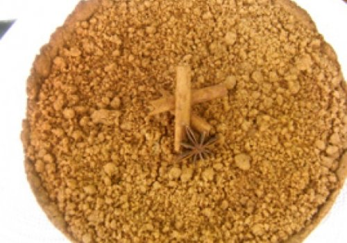 Cuca de farofa de trigo