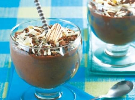 Mousse de chocolate ao rum