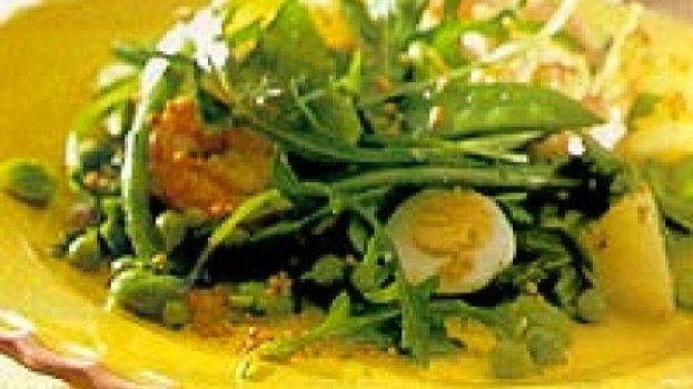 Salada de Camarão e Ovos de Codorna