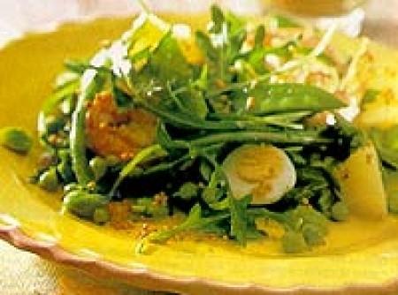 salada de camarão e ovo9s de codorna
