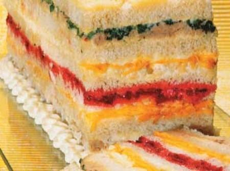 Sanduiche colorido