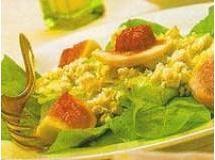 Salada de folhas figo e gorgonzola