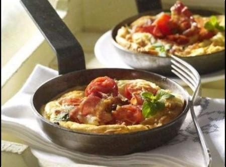 Omelete com Linguiça