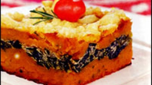 Torta de Abóbora com Creme de Espinafre