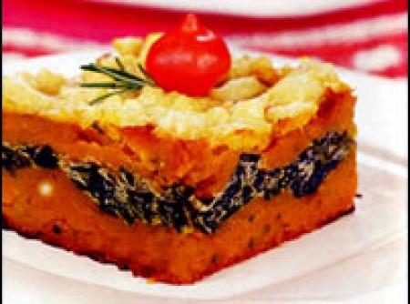 Torta de Abóbora com Creme de Espinafre | Daniel
