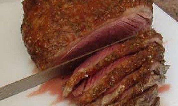 Picanha ao forno c/ sal grosso e alecrim