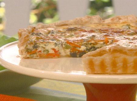 Quiche de Ricota e Abobrinha | cuisineaz.com.