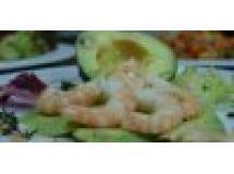 Abacate com camarões