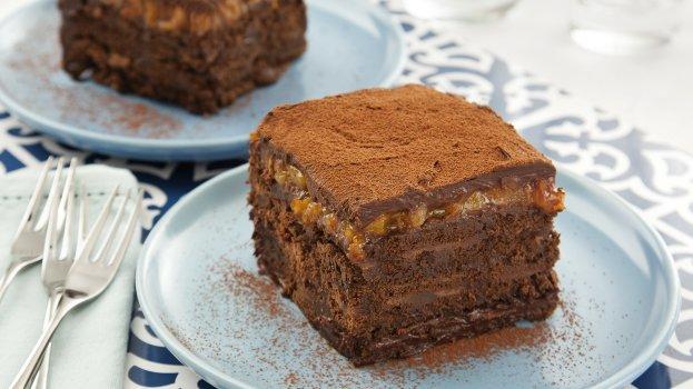 Pavê de Chocolate Amargo e Damasco