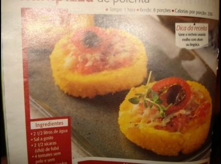 Minipizza de polenta