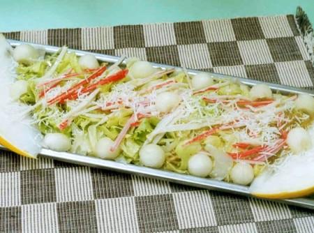 Salada de Kani com Melão