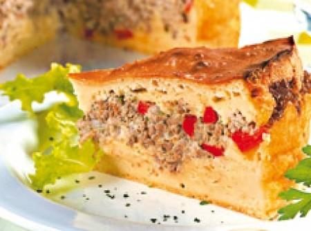 Torta de Carne Moída com Maionese