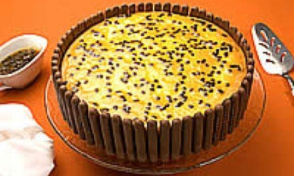 Torta de ricota com maracujá