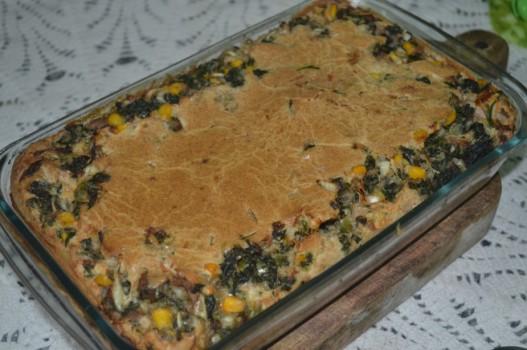 Torta Integral de Espinafre e Atum