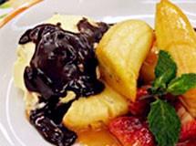 Frutas Flambadas ao Chocolate | Luiz Lapetina