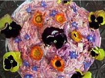 Salpicão de Beterraba e Cenoura com Flores