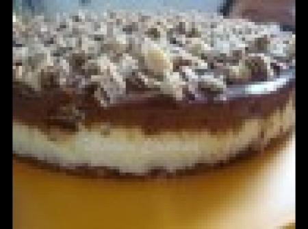 Torta Gelada de Bis com Mousse de Chocolate