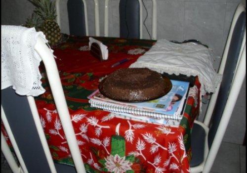 Pudim de pão de chocolate