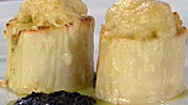 Palmito Recheado com Brandade de Bacalhau