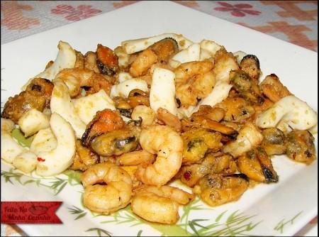 Frutos do Mar com Alho e Óleo   Solange domingues de Oliveira