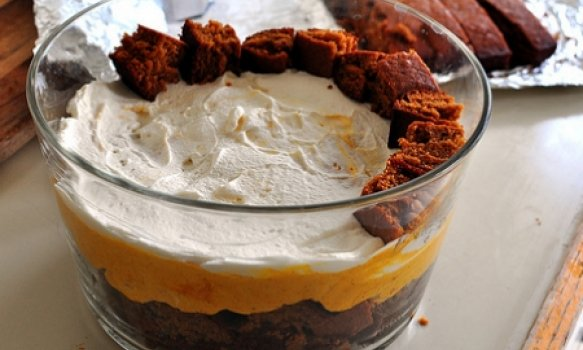 Trifle de Pêssegos